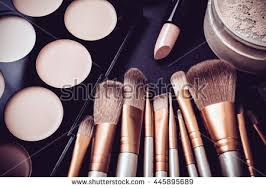 professional makeup tools professional makeup brushes tools makeup products stock photo