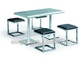 stainless steel table and chairs new design stainless steel dining table and leather chair buffet