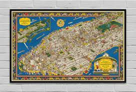 Etsy Maps Wondrous Isle Of Manhattan By Prostoposter On Etsy Maps Pinterest