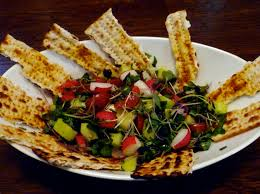 matzos for passover passover bread salad matzo fattoush two lazy gourmets
