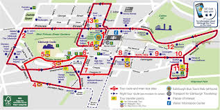 Emirates Route Map by City Sightseeing Edinburgh Hop On Hop Off Tour Tour Edinburgh