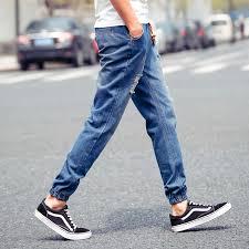 mens light blue jeans skinny 2017 jeans men denim pants male slim loose scratched jeans with