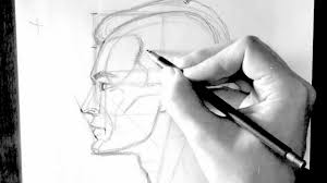 how to draw a head profile view male drawforever com youtube