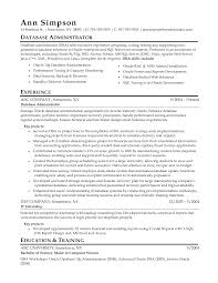 Sample Resume For Oracle Pl Sql Developer by Database Administration Sample Resume 22 Sql Developer Summary