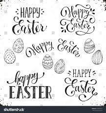 hand written easter phrases greeting card stock vector 378090973