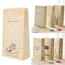 3 pcs kraft paper xmas party holiday cookies present gift bag