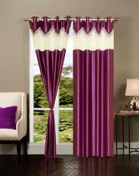 shop home elite beautiful polyester door curtains set of 2 rg