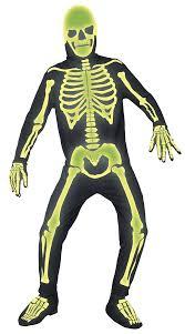 Glow Halloween Costume Men U0027s Glow Dark Graveyard Skeleton Costume Skeleton