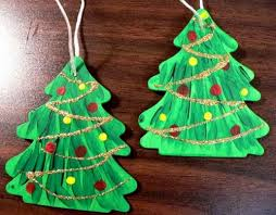 ornament painted wooden tree lindalewis on