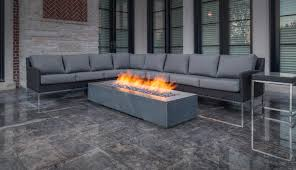 robata 72 concrete linear fire pit ash traditional home paloform