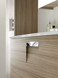 wall hung washbasin cabinet mdf laminate wooden look inda