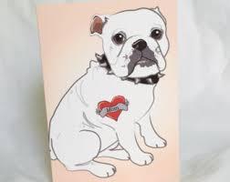 bulldog tattoo etsy