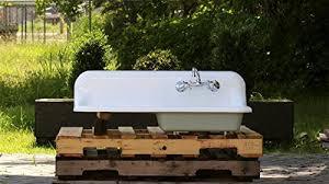 Cast Iron Farmhouse Kitchen Sinks by Refinished 1938 Antique 42 U2033 Farm Sink Crane Single Basin Wall