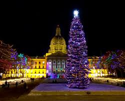sprucing up the legislature grounds for the holidays alberta