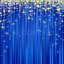 Gold And Blue Curtains Christmas Illustration Of A Blue Curtain With Gold Stars Stock