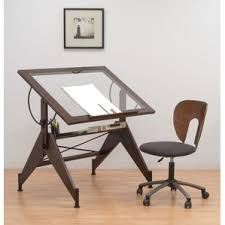 Drafting Computer Desk Glass Desks You U0027ll Love Wayfair