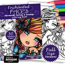 enchanted faces full size mermaids fairies u0026 fantasy coloring