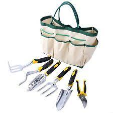 garden tool kit 9pc set folding chair fence binding rake trowel