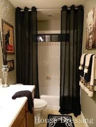 bathroom ideas with shower curtains turn any curtain or window drapery panel into a shower curtain