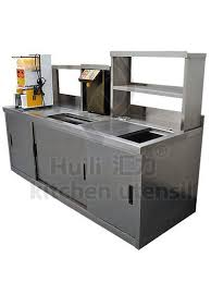 Fast Food Kitchen Design European Style Customized Kitchen Sushi Bar Counter Top Salad Bar