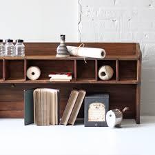 vintage pigeon hole cabinet mail sort desk top hutch office