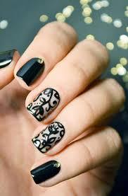 50 sassy black nail art designs to envy spring nails lace nail