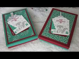 crafty christmas countdown 12 3 x 3 christmas card gift set using