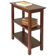 end table with shelves end table with shelves end table shelves finish chestnut table top