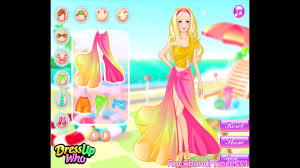 barbie beach dress up and makeover games youtube