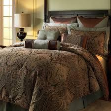 bed bedding brown stripe comforter sets king size for