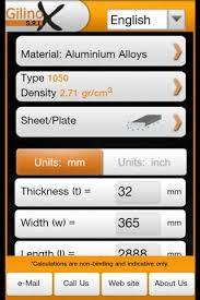 gilinox metal weight calculator download free without jailbreak