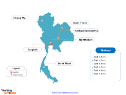 map of thailand free thailand editable map free powerpoint templates