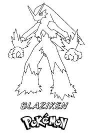 pokemon mega blaziken coloring pages murderthestout
