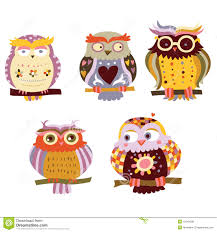 cute owls stock photo image 15344380