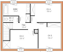 plan maison en l 4 chambres plan etage chambres 36356 sprint co