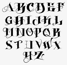 elegant tattoo letter fonts letter