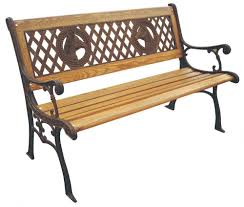 rust free cast iron park bench traditional outdoor furniture