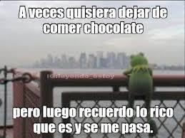 Memes De Chocolate - meme de chocolate frases sobre el chocolate pinterest kermit