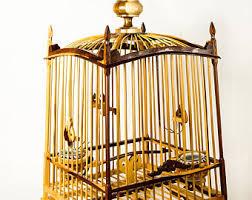 Bird Cage Decoration Bamboo Bird Cage Etsy