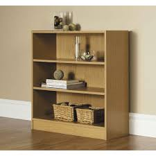Bookcase by Wood 3 Shelf Bookcase Multiple Finishes Color Black Roselawnlutheran