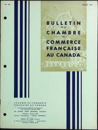 chambre commerce canada bulletin chambre commerce française au canada de la chambre de comme