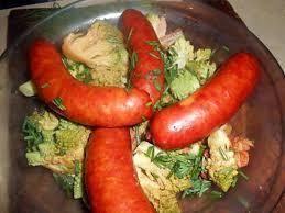 cuisiner des saucisses fum馥s recette de saucisses fumées au chou romanesco