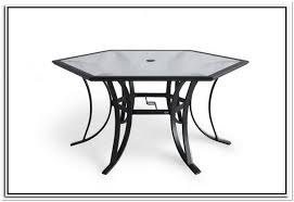 Hexagon Patio Table Hexagon Patio Tables Glass Top Home Design Ideas