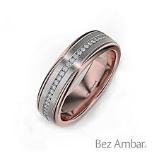 mens wedding band with diamonds two tone mens diamond wedding band devotion