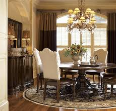 Spanish Style Dining Room Furniture by Seville Marquetry Expandable Round Pedestal Dining Table Zin Home