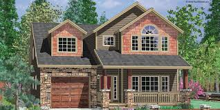 narrow house plans with garage vaulted master tandem garage 8176lb architectural designs