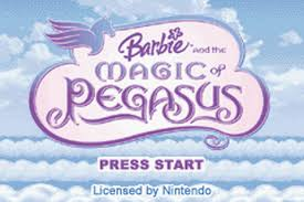play barbie magic pegasus nintendo game boy advance