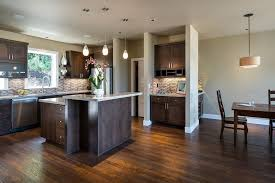Alder Cabinets Stained Alder Cabinets Kitchen Contemporary With Open Floor Plan Top