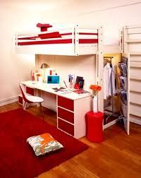 Contemporary Bedroom Design Small Space Loft Bed Teenager Student - Bedroom designs small spaces