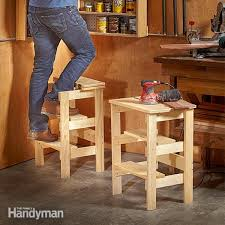 Wood Step Stool Plans Free by Ridiculously Simple Shop Stool Plans Family Handyman
